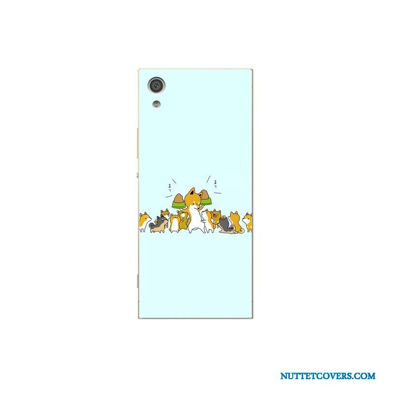 Etui Til Sony Xperia Xa1 Plus Beskyttelse Af Personlighed Telefon Cover Cartoon Malet