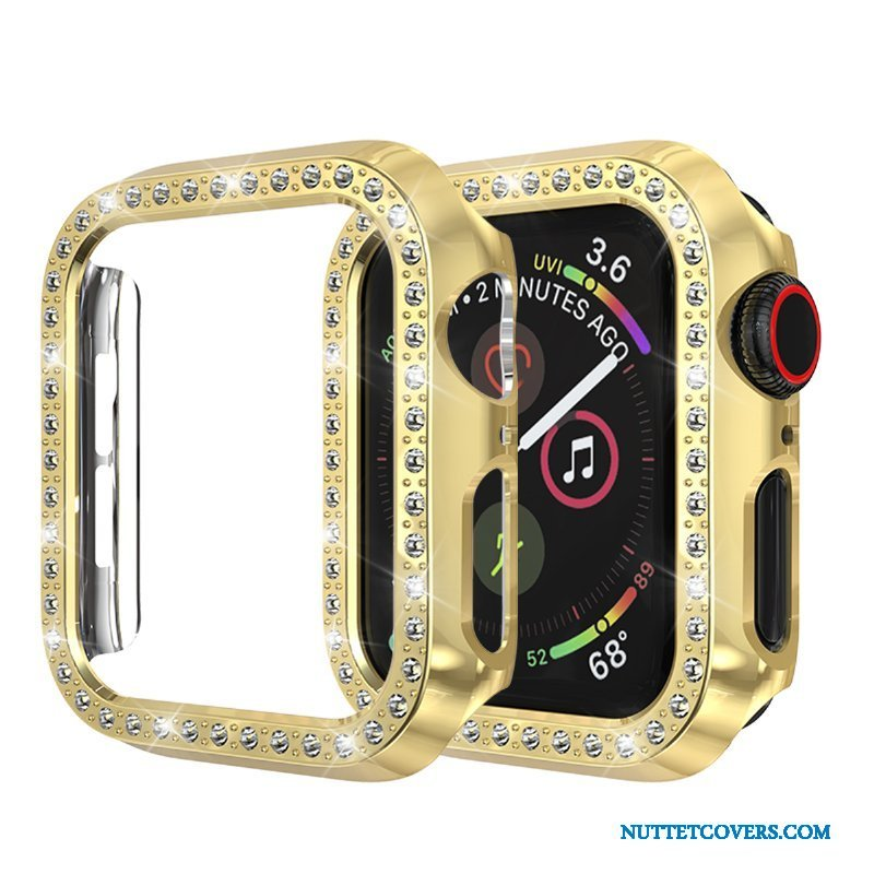 Etui Til Apple Watch Series 2 Beskyttelse Guld Strass Cover Anti-fald