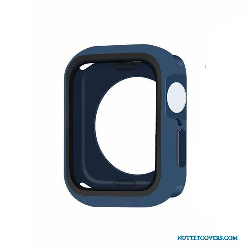 Etui Til Apple Watch Series 5 Cover Alt Inklusive Beskyttelse Silikone Blå