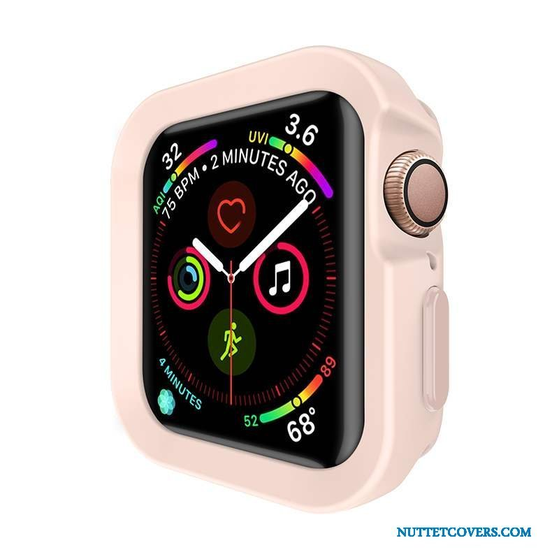 Etui Til Apple Watch Series 5 Cover Anti-fald Silikone Alt Inklusive Lyserød