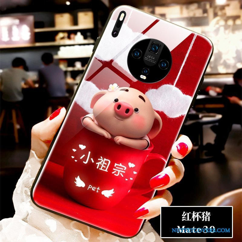 Etui Til Huawei Mate 30 Telefon Net Red Anti-fald Smuk Cartoon Elskeren