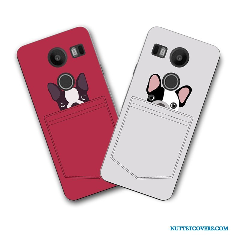 Etui Til Lg Nexus 5x Telefon Blød Cartoon Rød Malet Cover