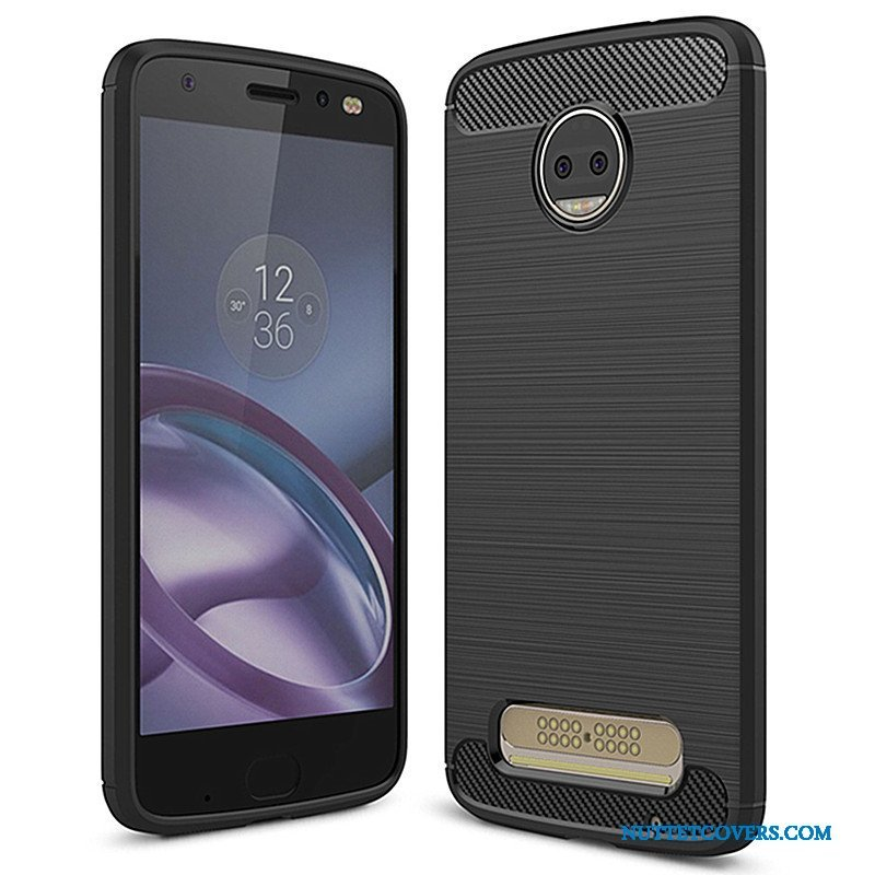 Etui Til Moto Z2 Force Edition Blød Telefon Sort Cover Beskyttelse Silikone