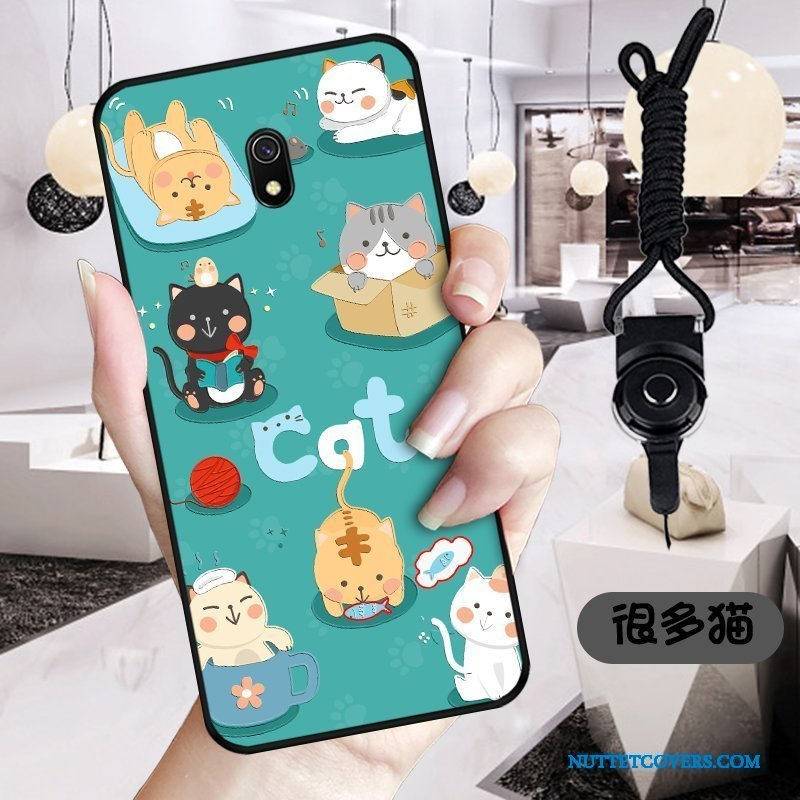 Etui Til Redmi 8a Cartoon Cover Beskyttelse Nuttet Sort Telefon