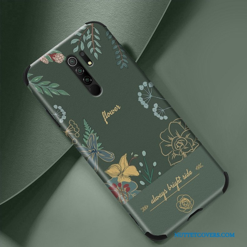 Etui Til Redmi 9 Tynd Net Red Relief Telefon Lille Sektion