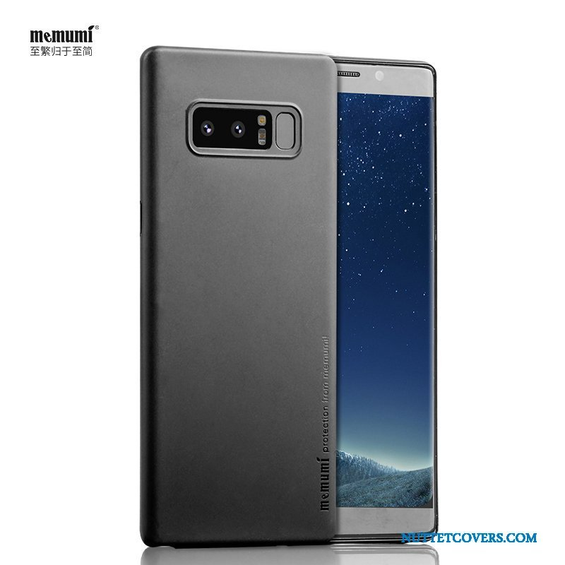 Etui Til Samsung Galaxy Note 8 Sort Ny Cover Tynd Nubuck Alt Inklusive