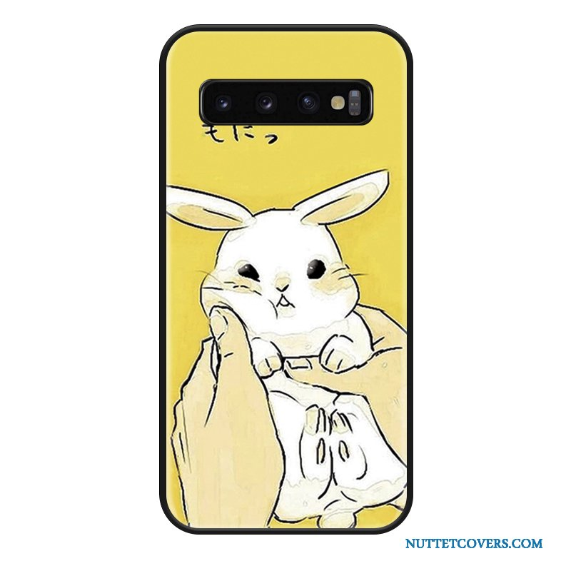 Etui Til Samsung Galaxy S10+ Cartoon Kanin Net Red Kreativ Stjerne Simple