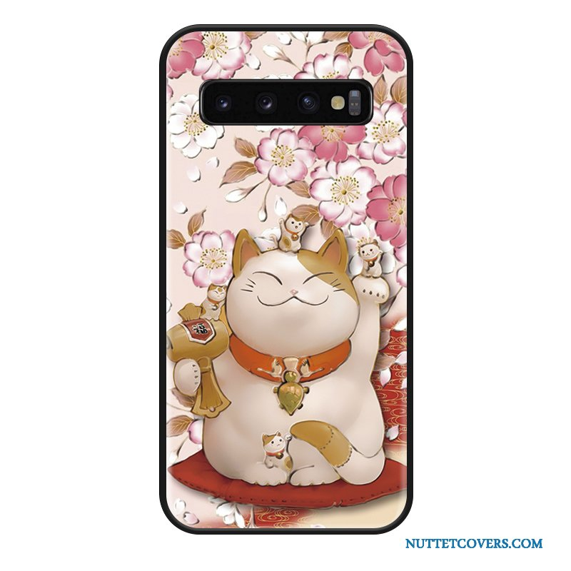 Etui Til Samsung Galaxy S10 Smuk Trendy Cartoon Ny Silikone Anti-fald