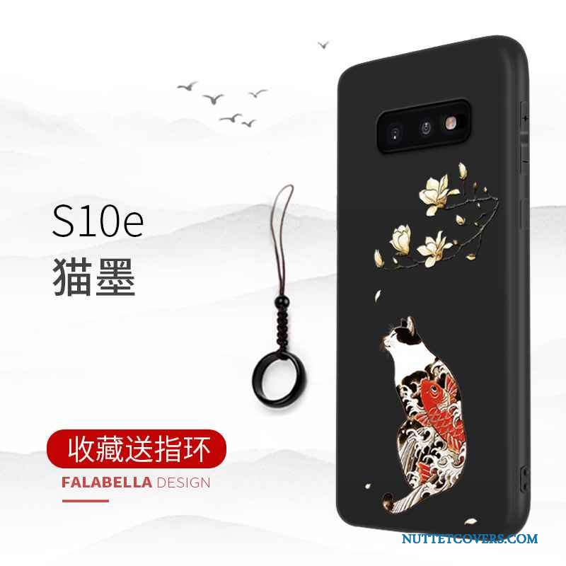 Etui Til Samsung Galaxy S10e Cover Anti-fald Simple Stjerne Telefon Sort
