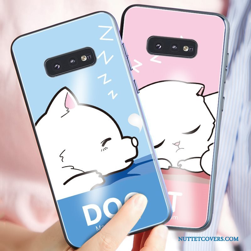 Etui Til Samsung Galaxy S10e High End Cartoon Telefon Af Personlighed Glas Ny