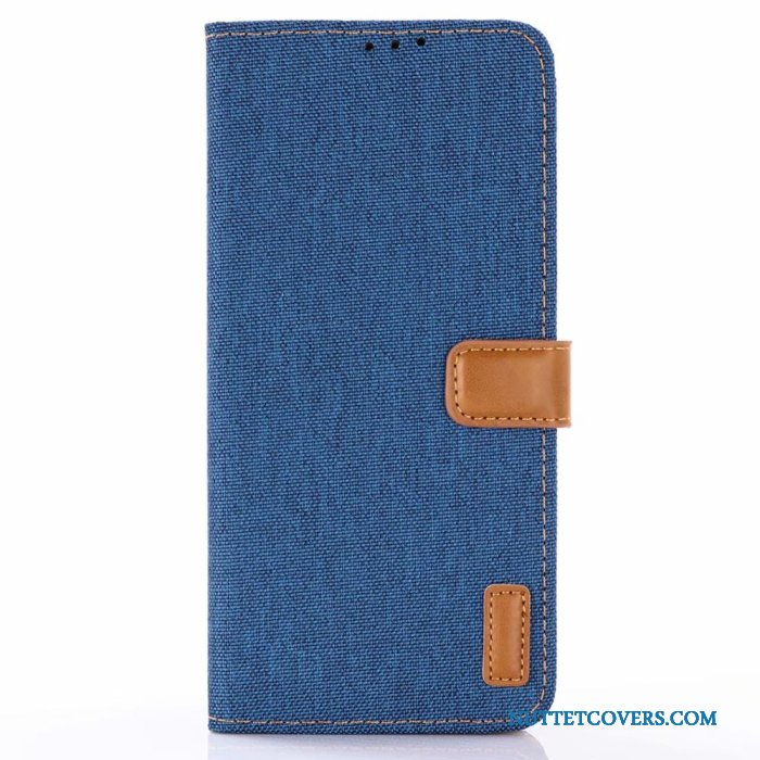 Etui Til Samsung Galaxy S10e Lædertaske Folio Denim Telefon Cover Mønster