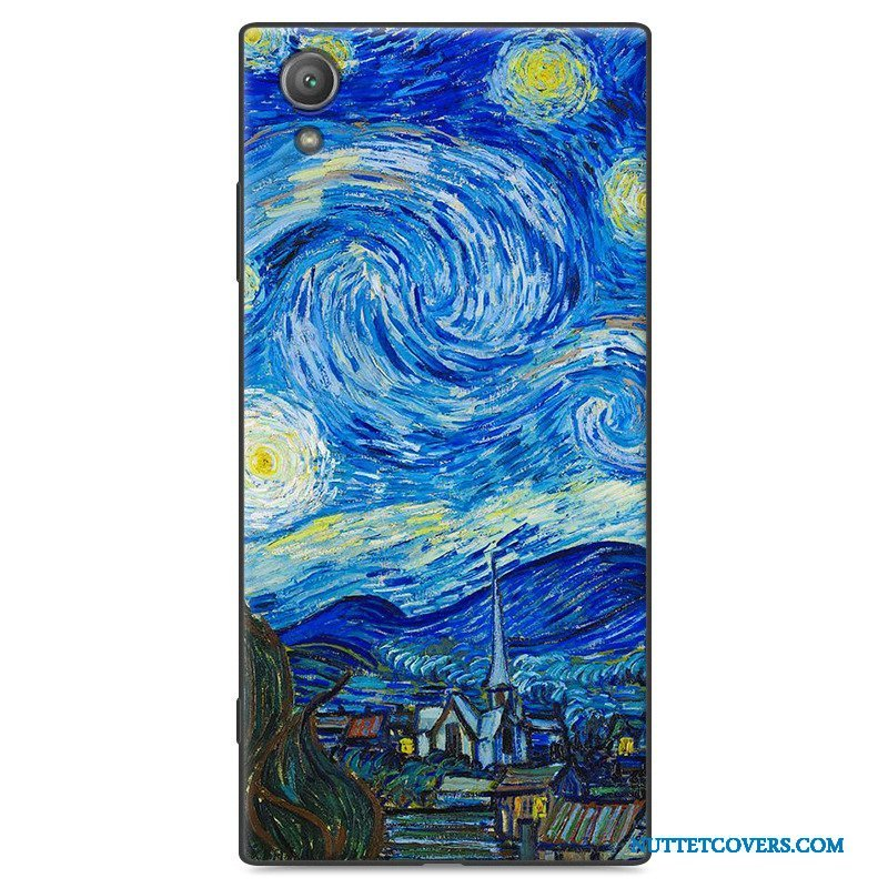 Etui Til Sony Xperia Xa1 Plus Cartoon Telefon Cover Blød Beskyttelse