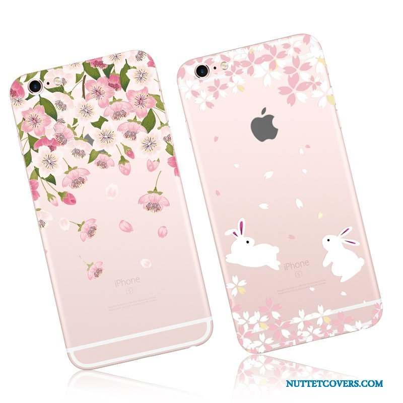 Etui Til iPhone 6/6s Silikone Telefon Cherry Cartoon Cover Hængende Ornamenter